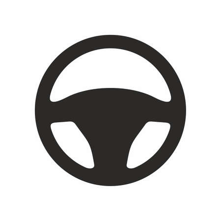 Steering wheel vector icon