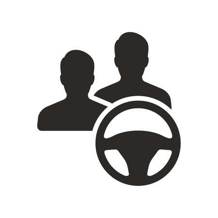 Additional driver icon vector illustration