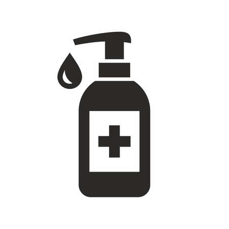 Hand sanitizer icon. Vector icon isolated on white background.