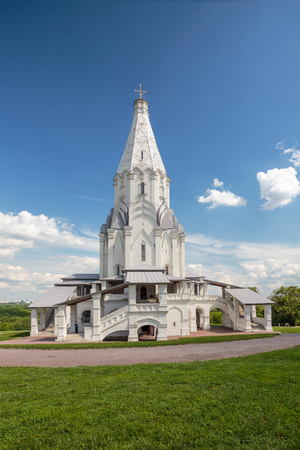Russia, Moscow. Church of the Ascension in the Kolomna park. May 26, 2016.