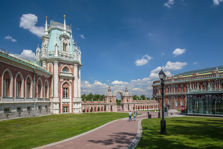 Russia, Moscow. The palace in the Tsaritsyno park. May 26, 2016.