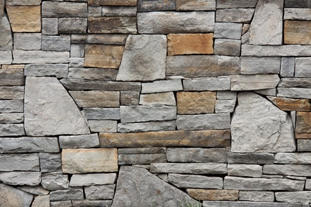 Irregular stones pattern Stock Photo