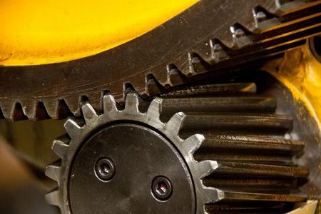 Two powerful gear wheels