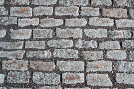 Natural gray granite stone pavement background