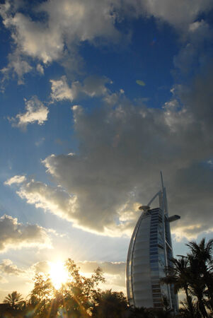Sun Set at Burj el Arab in Dubai -