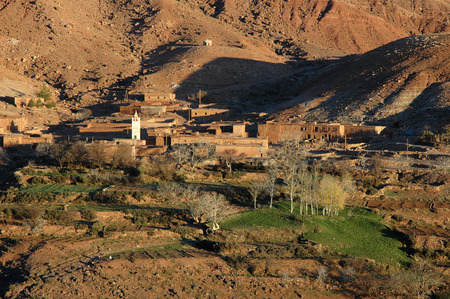 View on a Moroccan mountain village - High Atlas Editorial