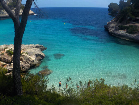 view on a beach in menorca