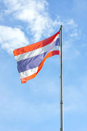 Thailand National Flag or tricolor flag. As a symbol of Thailand.