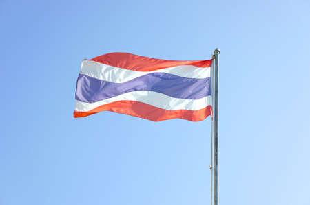flagstaff: Thailand National Flag or tricolor flag. As a symbol of Thailand.