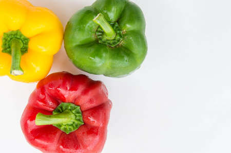 sweet pepper isolated  in white background , rew vagetable