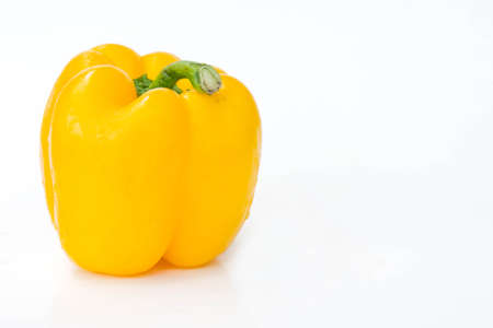 Sweet pepper isolated  in white background, raw vegetable