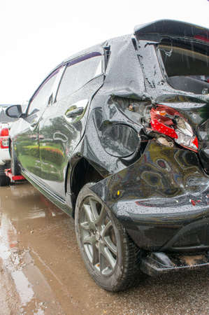 Accident Car Crash, Car crash Often easily happen If the negligence Stok Fotoğraf - 78500936