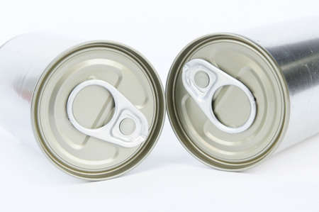 can opener: A pop-top lid ,cans on white background, Packaging cans, Tin can easy open ends for beverage and food packaging Tin containers, chemicals.