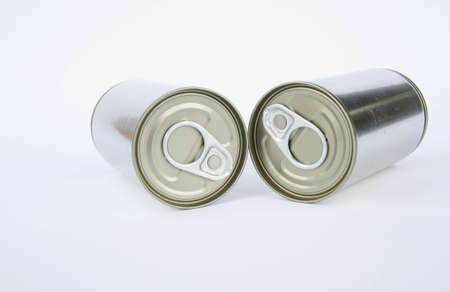 A pop-top lid ,cans on white background, Packaging cans, Tin can easy open ends for beverage and food packaging Tin containers, chemicals.