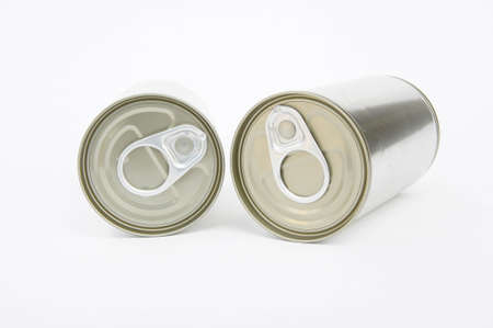 can opener: pop-top lid ,cans on white background, Packaging cans, Tin can easy open ends for beverage and food packaging Tin containers, chemicals.
