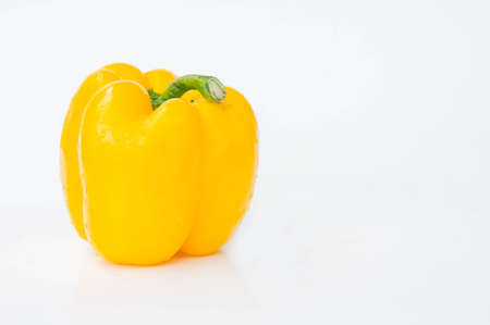 bell peper: sweet pepper isolated  in white background , raw vegetables