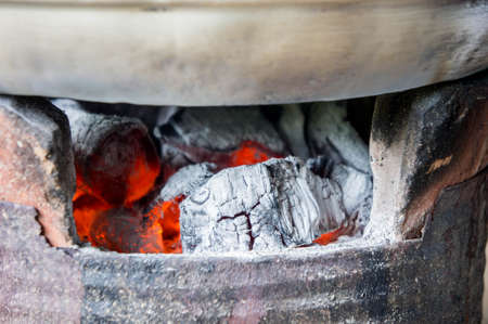 brazier: Charcoal stove, Furnace, charcoal, heat from charcoal for cooking Or hot Watch out for the heat of charcoal fire.