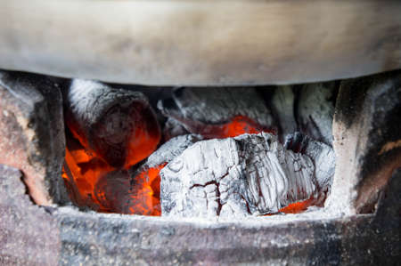 Charcoal stove, Furnace, charcoal, heat from charcoal for cooking Or hot Watch out for the heat of charcoal fire.