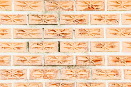 Texture brick block red wall background Stock Photo