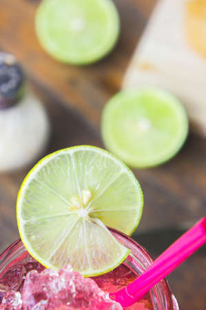 cold cut: Lime is a good variety to decorate and decorate the taste. Lime useful Mix flavored with sweet water. Stock Photo