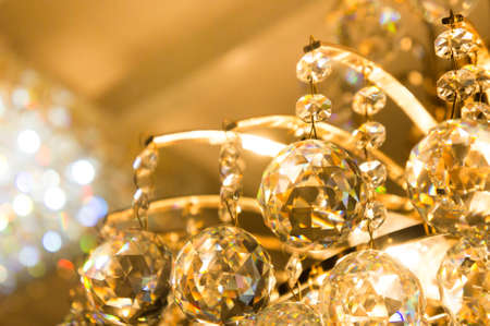 chandelier: The glass ball Sparkling accessories of lamp