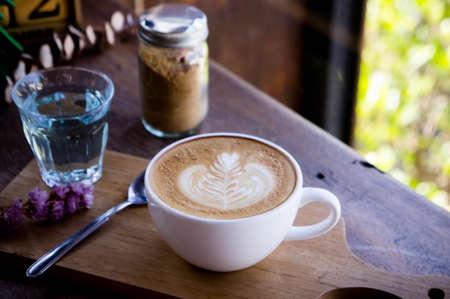 kahve aroması sabah beyaz masada ahşap masada zaman