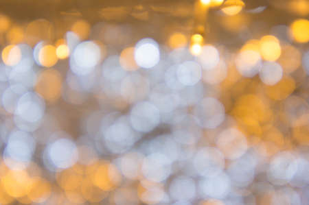 Bokeh light in the Festival christmas day or happy new year background