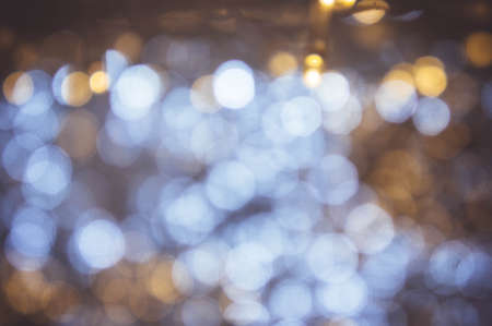 bokeh night light with small LED light for Decorative lights in festivals Stock Photo