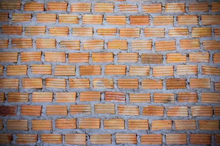 Red brick wall Red brick to build a wall to build a wall Stock Photo