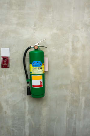 Fire Extinguishers , Fire Equipment on wall background