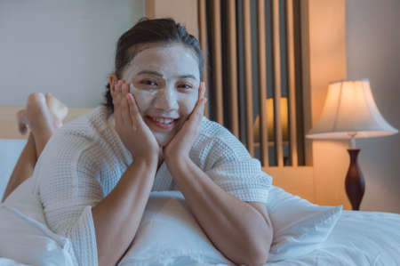 girls happy time of Face Mask pad , beauty skill massage spa of yourself