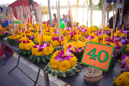 Loykratong festival, Natural Inventions Float in the river During the festival in Thailand.