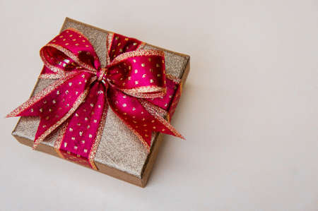 Red gift box and copy space  for special day