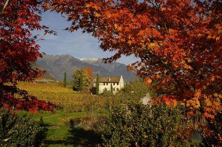 meran: old maso in Meran, Trentino, italy Stock Photo
