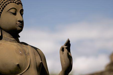 ancient yoga: ola buddha in the ancient sukhothai archeolocical park Stock Photo