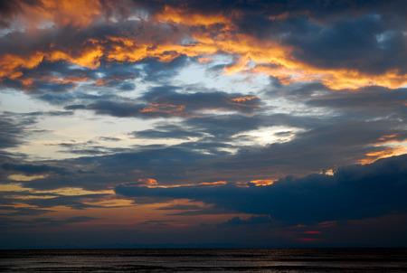 nice sunset in Trat, Thailand  photo