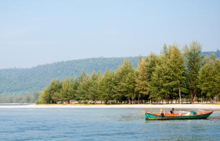 Fisherman near beach at Trat,Thailand. photo