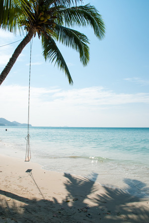 coconut and swing at koh Chang beach. photo
