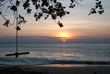 sunset view at Koh Chang,Trat Thailand  photo