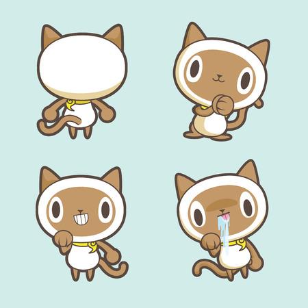 siamese: Siamese cat Illustration