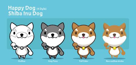 Happy Shiba Inu Dog