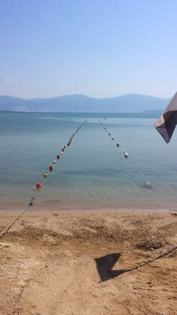 buoys: Water buoys at sea