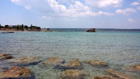 stone path: Stone path on the sea