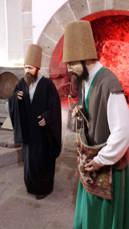 whirling: Waxworks whirling dervishes