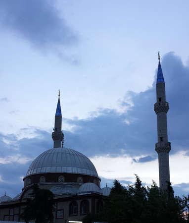 minarets: Turkish mosque with two minarets
