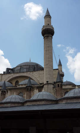 minaret: Turkish mosque with a minaret