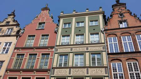 tenement buildings: Beautiful historic tenements in Gdask, Poland