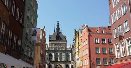 ade: Beautiful historic tenements in Gdask, Poland