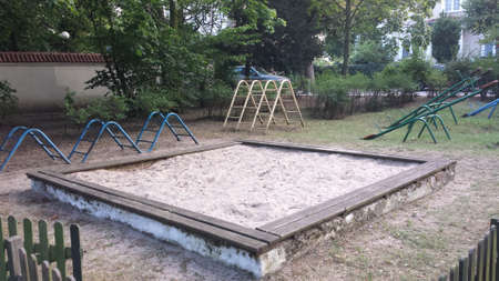 climbing frames: The old playground