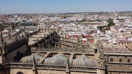 sevilla: Sevilla from above, Spain. View from the Giralda. Stock Photo